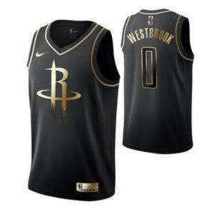 Houston Rockets Russell Westbrook Black Jersey